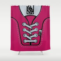 vans Shower Curtains featuring Pink Vans shoes iPhone 4 4s 5 5s 5c, ipod, ipad, pillow case and tshirt by Three Second