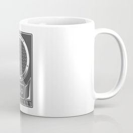 Vintage music concert audio loudspeaker in monochrome style illustration Coffee Mug