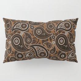 Chocolate Brown Paisley Pattern Pillow Sham