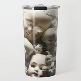 Rucus Studio Antique Doll Heads Travel Mug