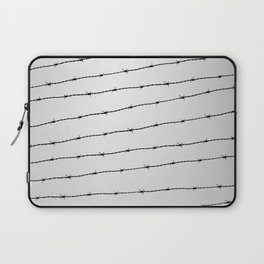 Cool gray white and black barbed wire pattern Laptop Sleeve