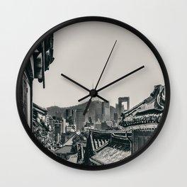 Seoul Cityscape Wall Clock