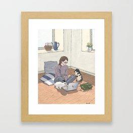 In the light of spring Framed Art Print