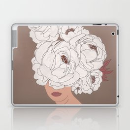 Woman with Peonies Laptop & iPad Skin