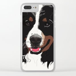 Bernese Mountain Dog Clear iPhone Case