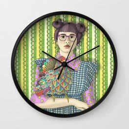 Girl with Dream Chicken Wall Clock