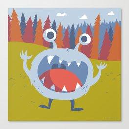 Suprise Monster Canvas Print