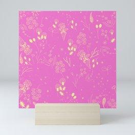 Flower Party (Pink) Mini Art Print