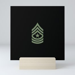 Sergeant Major (Green) Mini Art Print