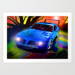 Daytona Charger Art Print