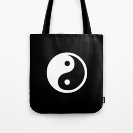 Yin Yang Black White Tote Bag