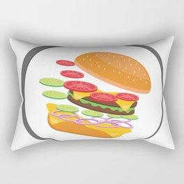 Awesome Burger falling down - I love Burger Rectangular Pillow