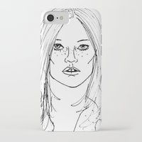 kate moss iPhone & iPod Cases featuring Kate Moss by Erika's Art Shoppe