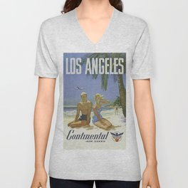 Vintage poster - Los Angeles Unisex V-Neck