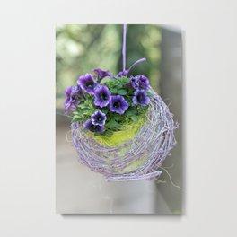 hanging bellflower for home decor Metal Print
