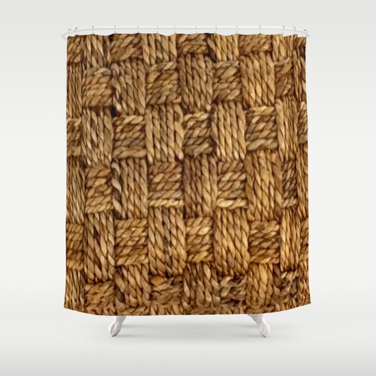 hemp pattern shower curtain by lazy bones studios society6