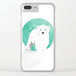 Snow Bear Clear iPhone Case
