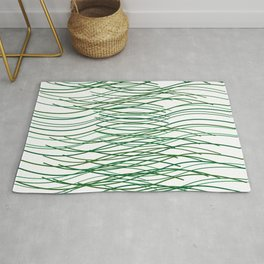 thin green lines curves Rug