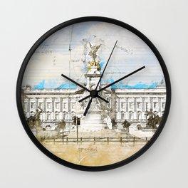 Buckingham Palace, London England Wall Clock