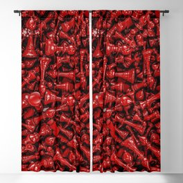 Bloody chess Blackout Curtain