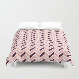 Chevron - Rose Duvet Cover