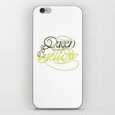 Queen of yellow iPhone & iPod Skin