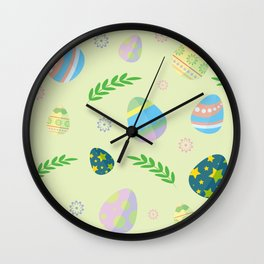 Easter eggs pattern Wall Clock