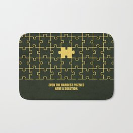 Lab No. 4 -Even The Hardest Puzzles Have A Solution Corporate Start-Up Quotes Bath Mat