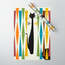 Mid-Century Modern Art Cat 2 Wrapping Paper