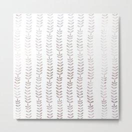 Silver leaf trellis Metal Print
