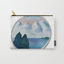 Spanish Snowy Mountains over the River Carry-All Pouch