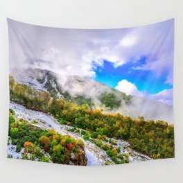 Autumn in Mountains Wall Tapestry