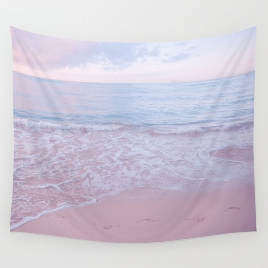 Pink Wall Tapestry calm day 02 ver.pink wall tapestrynoirblanc777 | society6