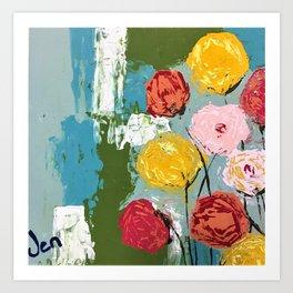 Flora Climbing Art Print