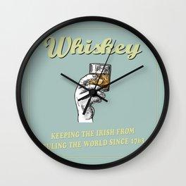 Irish Whiskey Funny Quote Wall Clock