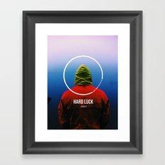Hard luck tshirt design #1 Framed Art Print