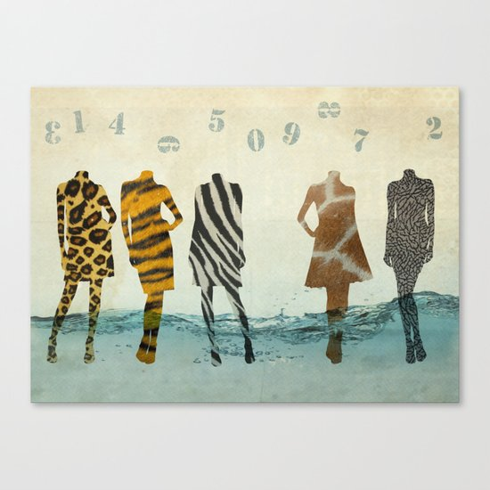 fashion line up Canvas Print