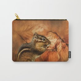 Chipmunk Autumn Carry-All Pouch