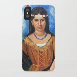 Portrait of Poca Hontas iPhone Case