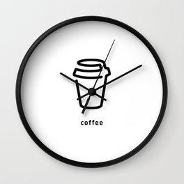 Coffee Cup Vector Wall Clock