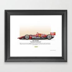 #10 LOLA - 1993 - T9300 - Luyendyk Framed Art Print