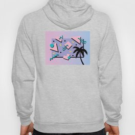 Memphis Pattern 25 - Miami Vice / 80s Retro / Palm Tree Hoody