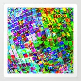 Psychedelic Planet Disco Ball Art Print