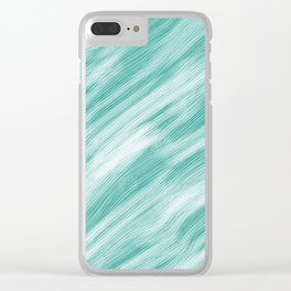 Sound Waves Clear iPhone Case