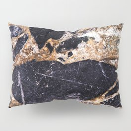 Black and Gold Marble Pillow Sham