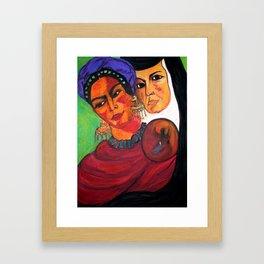 Frida y Sor Juana Ines De La Cruz Framed Art Print
