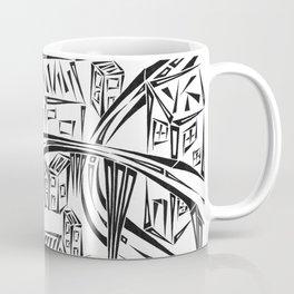 Town Circled By Roads Coffee Mug