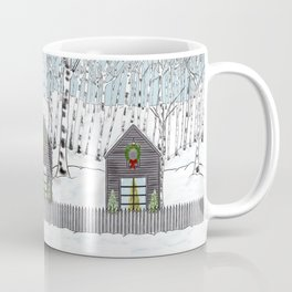 Christmas Cabin In The Snowy Woods Coffee Mug