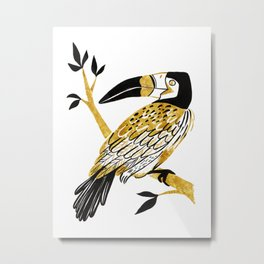 Golden Toucan Metal Print