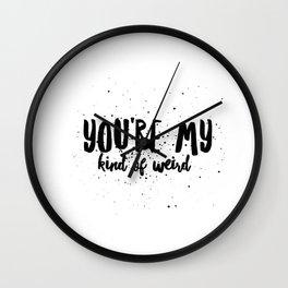 My Kind of Weird Wall Clock